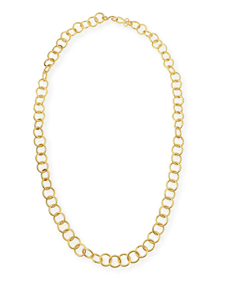 Stephanie Kantis 24k Gold-Plated Bronze Classic Link Necklace,