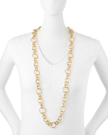 24k Gold-Plated Bronze Coronation Necklace, 42""