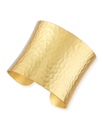 24k Gold-Dipped Grecian Hammered Cuff