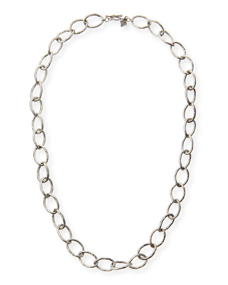 """Sterling Silver Twisted Link Necklace, 20""""L"""