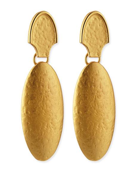 Stephanie Kantis 24k Gold Dipped Empire Earrings