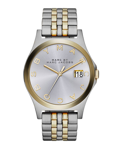 MARC by Marc Jacobs 36mm The Slim Two-Tone Watch with Bracelet