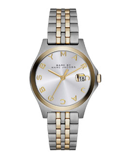 MARC by Marc Jacobs 30mm The Slim Two-Tone Watch with Bracelet