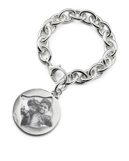 Monica Rich Kosann Round Charm Photo Sterling Silver Bracelet