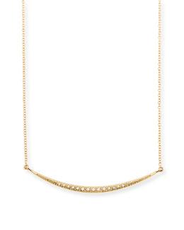 Mizuki Medium Horizontal Icicle Necklace with Diamonds