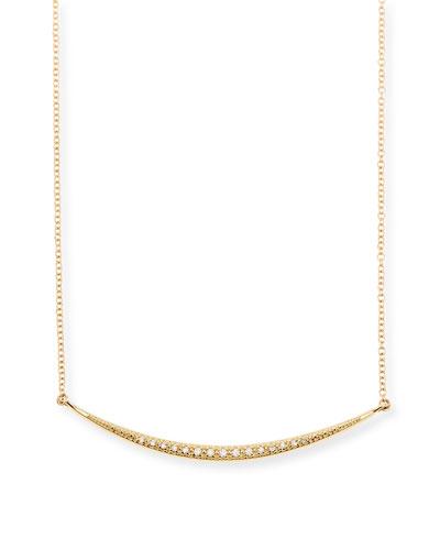 Medium Horizontal Icicle Necklace with Diamonds