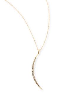 Mizuki New Medium Crescent Necklace with Diamonds