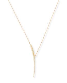 Mizuki Icicle Slice Necklace with Diamonds