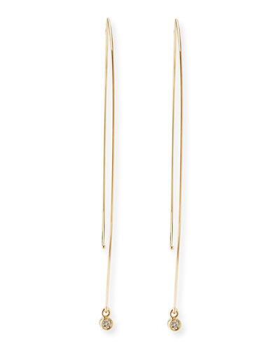 Mizuki 14k Gold Marquise Drop Earrings with Diamonds