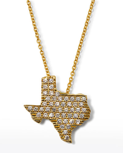 Roberto Coin 18k White Gold Diamond Texas Necklace
