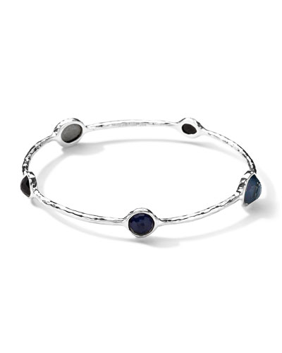 Ippolita Wonderland Round 5 Quartz & Mother-of-Pearl/Pyrite Bangle