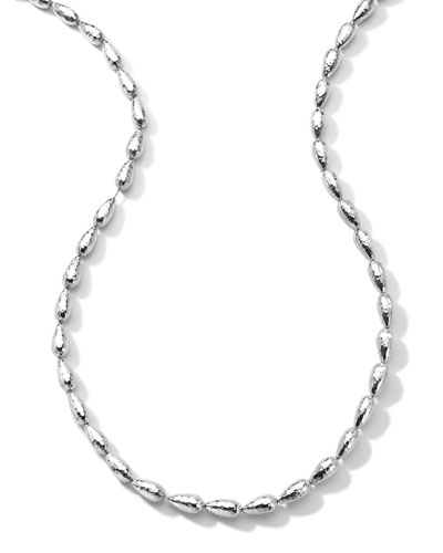 "Ippolita Hammered Silver Chain Necklace, 36""L"