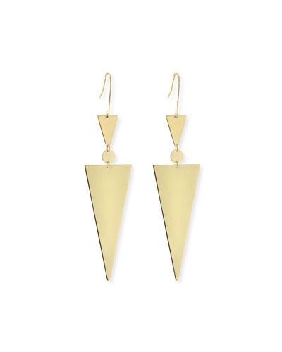 Lana 14k Gold Triangle Spike Earrings