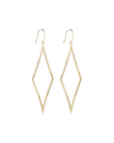 Lana 14k Gold Aura Diamond-Drop Earrings