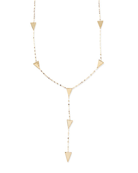 14k Gold Crush Lariat Necklace