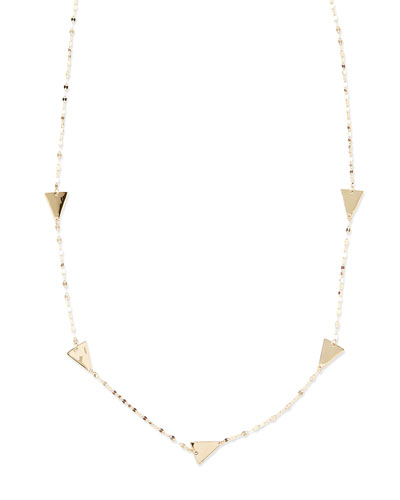 14k Gold Crush Single Strand Necklace