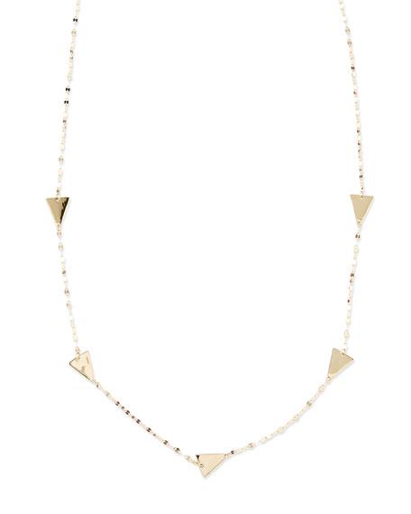 14k Gold Crush Single Strand Necklace