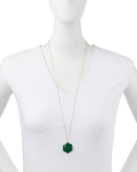 14k Envy Green Onyx Pendant Necklace