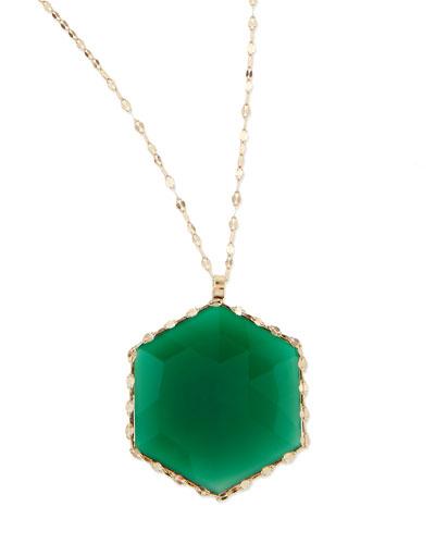 Lana 14k Envy Green Onyx Pendant Necklace