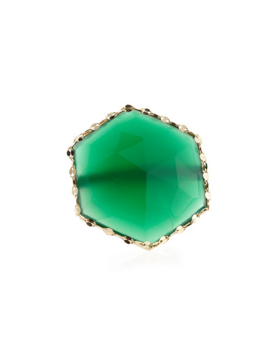 14k Envy Green Onyx Ring