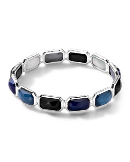 Ippolita Wonderland Rectangle-Cut Quartz & Mother-of-Pearl/Pyrite Bangle