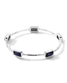 Ippolita Wonderland Rectangle-Cut 5 Quartz & Pyrite Bangle