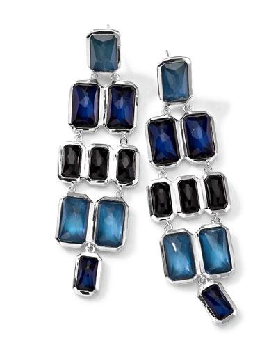Ippolita Rectangle-Cut Quartz & Mother-of-Pearl/Pyrite Cascade Earrings