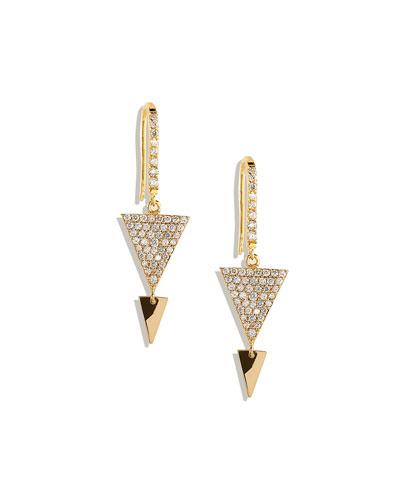 Lana Fatale Pave-Diamond Spike Earrings
