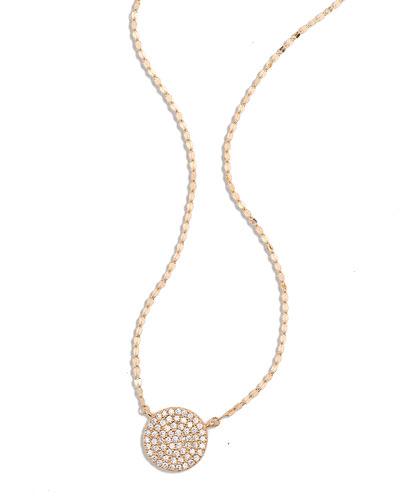Lana Femme Diamond Disc Charm Necklace