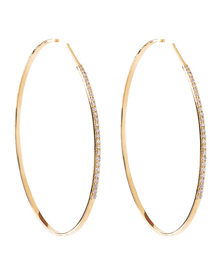 14k Femme Large Hoop Earrings with Diamonds
