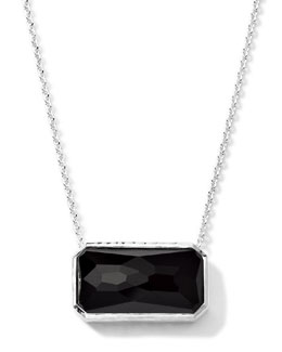 Ippolita Rectangle Black Onyx Pendant Necklace