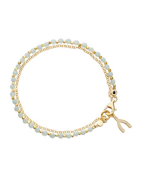 Wishbone Amazonite Friendship Bracelet