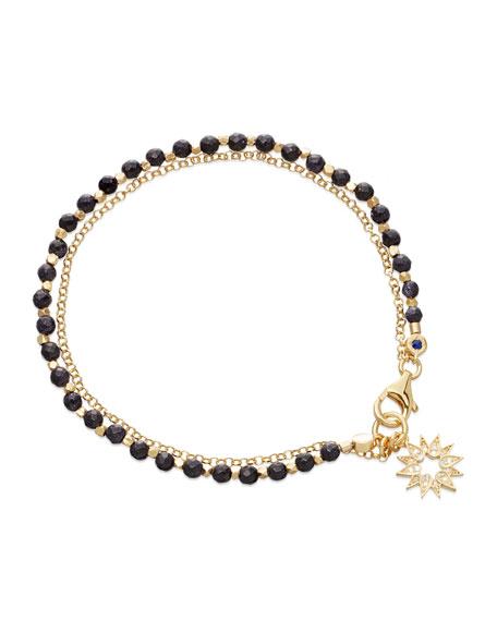 Astley Clarke Blue Goldstone Sun Friendship Bracelet