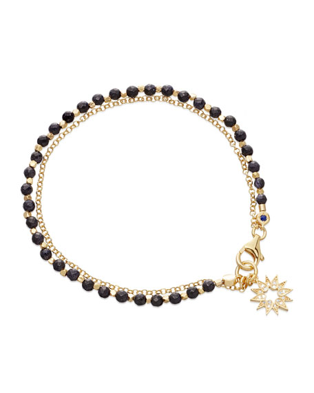 Blue Goldstone Sun Friendship Bracelet