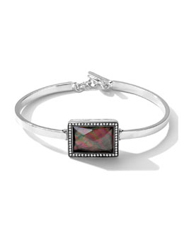 Ippolita Stella Bracelet with Black Shell Rectangle & Diamonds
