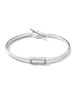 Ippolita Stella Rectangular Toggle Bracelet with Diamonds