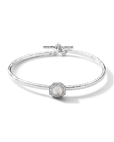 Ippolita Stella Toggle Bracelet with Mother-of-Pearl Cushion & Diamonds