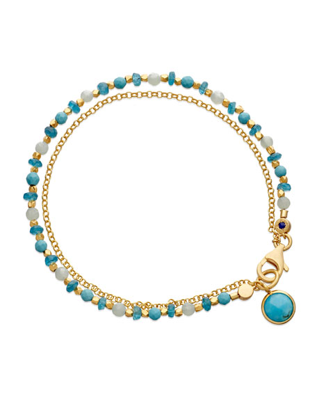 Astley Clarke Be Very Cool Blue Beaded Friendship
