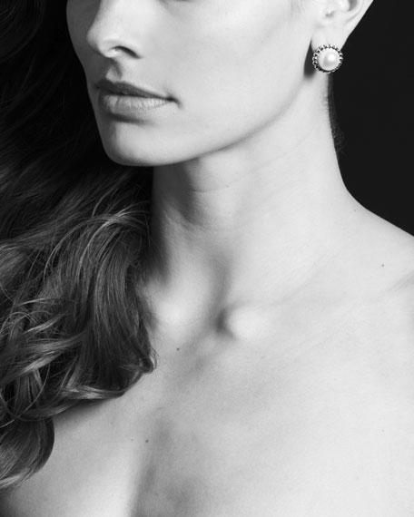 Fluted Pearl Stud Earrings, 12mm