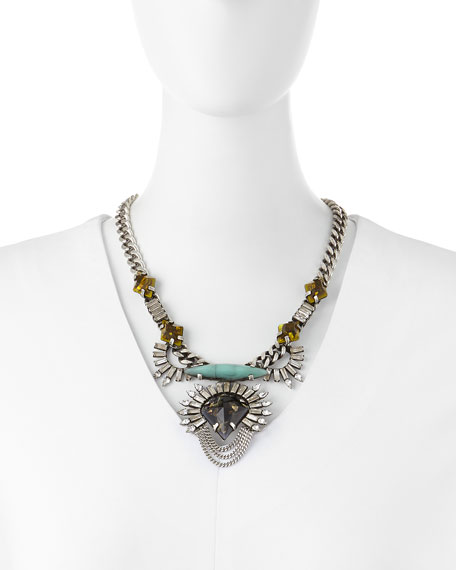 Arley Silver Necklace with Crystals