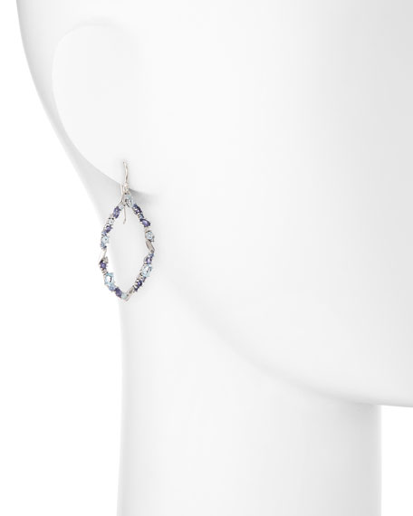 Oval Marquise Cluster Earrings