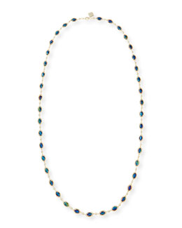 Kendra Scott Gale Yard-Long Necklace, Black Iridescent