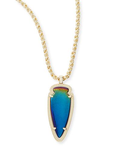 Kendra Scott Shaylee Pendant Necklace, Black Iridescent