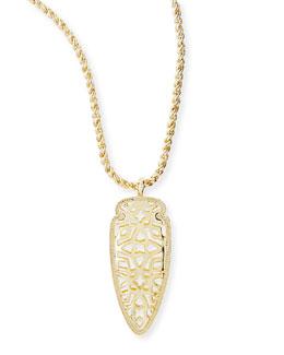Kendra Scott Golden Sienna Pendant Necklace