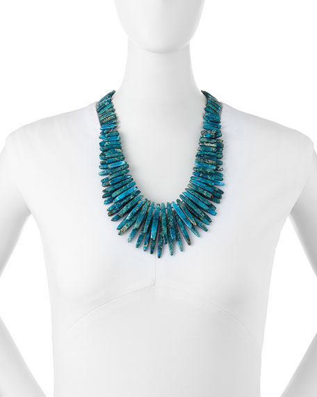 Turquoise Jasper Spike Necklace