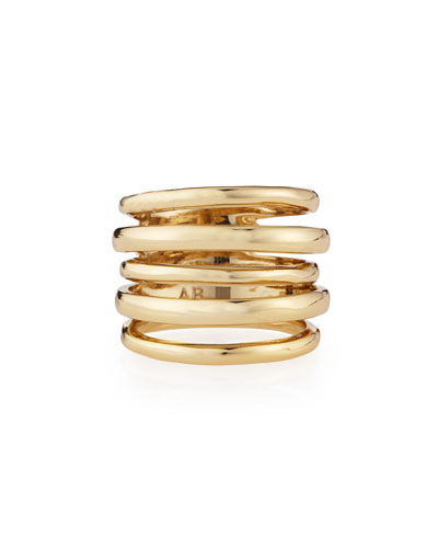 Alexis Bittar Miss Havisham Kinetic Golden Layered Ring