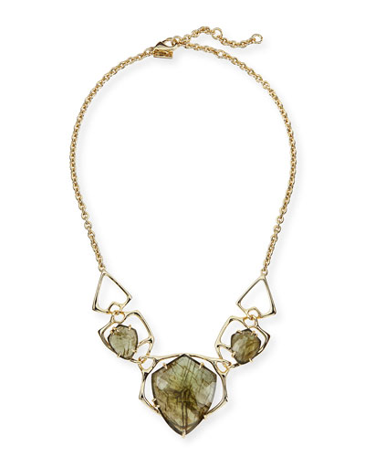 Alexis Bittar Miss Havisham Kinetic Golden Labradorite Doublet Necklace