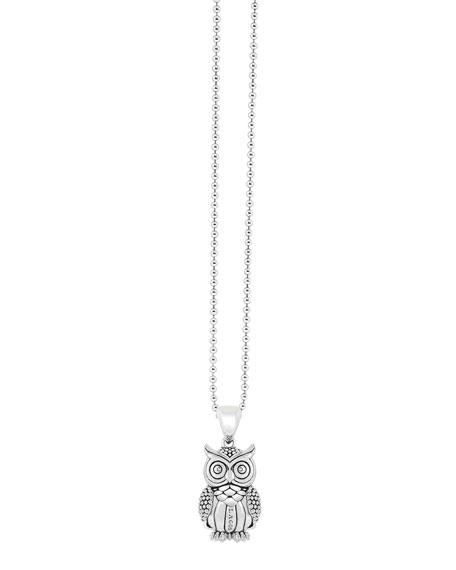 Rare Wonders Owl Pendant Necklace