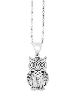 Lagos Rare Wonders Owl Pendant Necklace