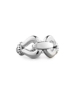Lagos Sterling Silver Derby Buckle Ring